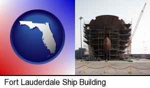 a ship building project at a Polish shipyard in Fort Lauderdale, FL