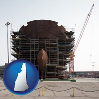 new-hampshire map icon and a ship building project at a Polish shipyard